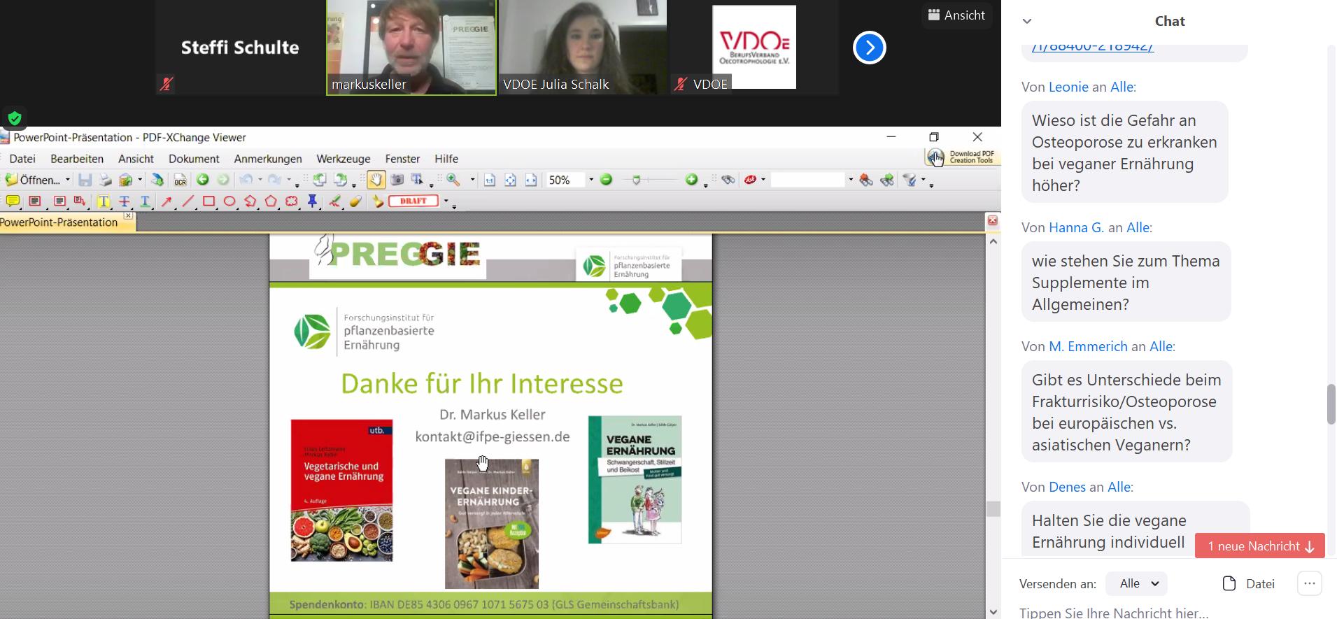"""VDOEregional Gießen – Bericht – """"Leben Veganer gesünder?"""""""